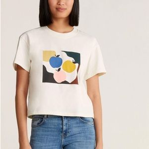 Madewell Crop Top Graphic T-shirt Large